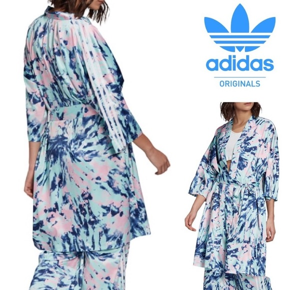 Adidas Intimates Sleepwear Adidas Originals Tie Dye Robe Blue Nwot Poshmark
